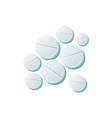 grey flat cartoon pills set isolated vector image vector image