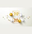 happy new year 2020 bannergolden luxury numbers vector image vector image