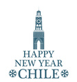 Happy New Year Chile vector image vector image