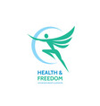 health freedom - logo sign template vector image