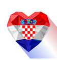 heart the flag of the republic of croatia vector image