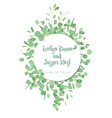herbal wedding invitation greeting card banner vector image