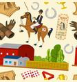 horse racing seamless pattern horseback riding vector image vector image
