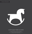 horse toy premium icon white on dark background vector image vector image
