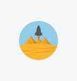 icon on square internet button vector image