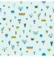 indoor home plants in ceramic pots seamless vector image vector image