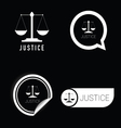 justice icon black and white vector image vector image