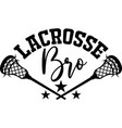 lacrosse brother on white background vector image vector image