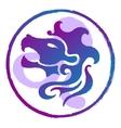 Leo zodiac sign watercolor vector image vector image