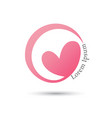 love circle logo design template vector image