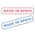 made in spain textile stamps vector image vector image
