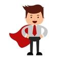 man businessman cartoon character icon vector image