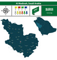 map of al madinah saudi arabia vector image vector image