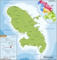 Map of Martinique vector image