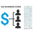 Money Recipients Icon with Flat Set vector image vector image