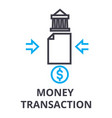 money transaction thin line icon sign symbol vector image vector image