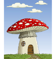 mushroom house vector image vector image