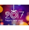 New Year 2017 festive card template New year vector image