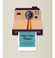 Old vintage polaroid camera with picture vector | Price: 1 Credit (USD $1)