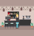 people interior coffee shop or bar restaurant vector image