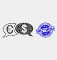 pixel financial chat messages icon and vector image vector image