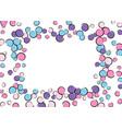 polka dot frame with comic pop art confetti vector image
