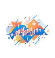 profitability isometric text design on abstract vector image vector image