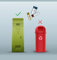 proper battery disposal vector image vector image
