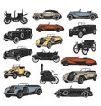 rarity antique cars vintage vehicles vector image