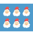 Santa Claus emotions set Christmas character vector image vector image