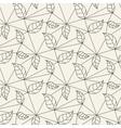 Seamless leaves line pattern tile background vector image vector image