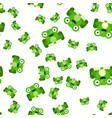 seamless pattern of frogs vector image vector image
