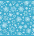 seamless pattern of snowflakes on blue vector image vector image