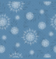seamless pattern with white snowflakes and branch vector image vector image