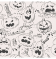 Seamless pumpkins vector image vector image
