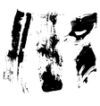 Set of four grunge brushes vector image vector image