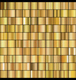 set realistic gold gradients vector image
