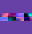 set smooth abstract colorful mesh backgrounds vector image vector image