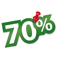 Seventy percent sticker vector image vector image