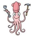 squid handyman vector image vector image