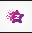 stars pixel for technology symbol letter z design vector image vector image