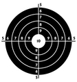 target for shooting practice vector image vector image