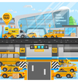 Taxi Cars Composition vector image vector image