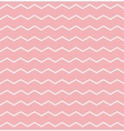 Tile pattern white zig zag on pink background vector image vector image