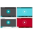 Video player interface for web and mobile apps vector image