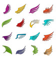 wing icons doodle set vector image
