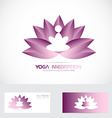 Yoga meditation lotus flower logo vector image vector image