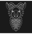 zentangle Ram Head white Goat vector image vector image