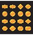 Labels and Frame Gold Set vector image