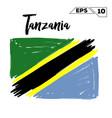 tanzania flag brush strokes painted vector image